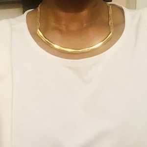 Classic Gold Ann Taylor Bar Necklace.
